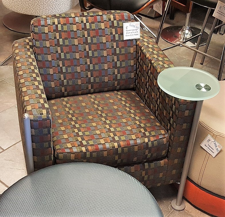 Enjoyable Multicolor Lounge Chair With Attached L Or R Glass Table Pabps2019 Chair Design Images Pabps2019Com