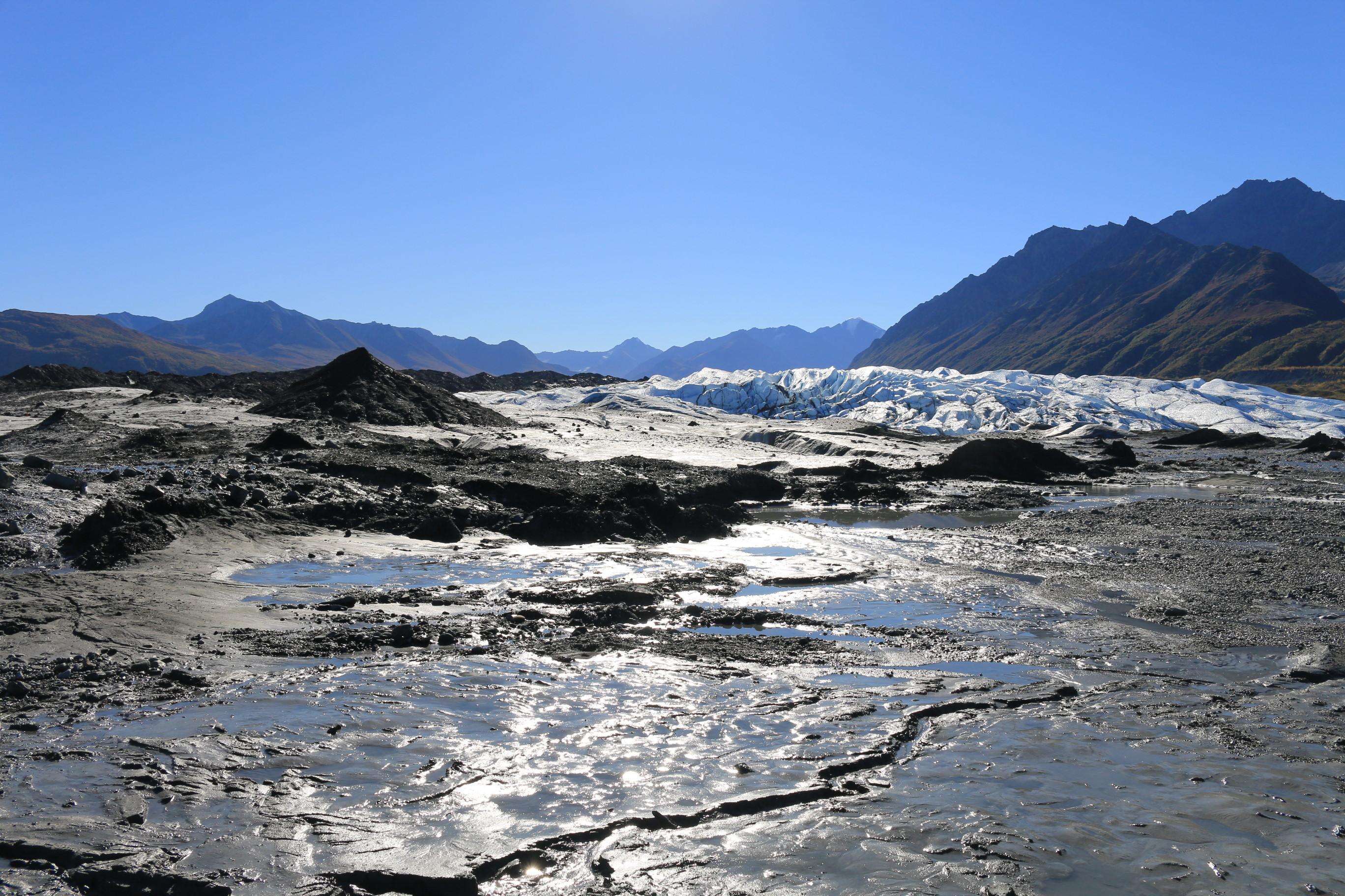 На подходе к леднику