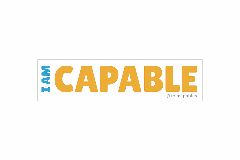 I AM CAPABLE - STICKER