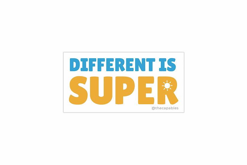 DIFFERENT IS SUPER - STICKER
