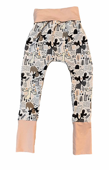 Grow with me pants in Cotton Lycra prints