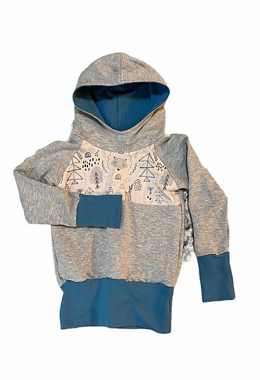 Forest friends Grow with me size 1-3 Hoodie