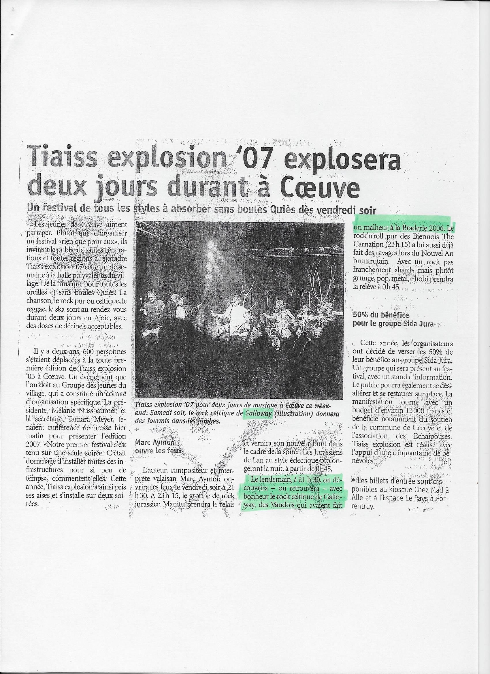 Tiaiss Explosion '07