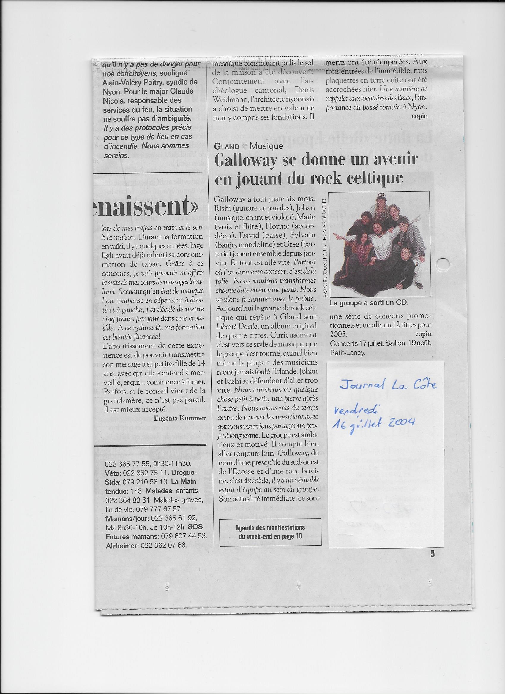La Côte, 16.07