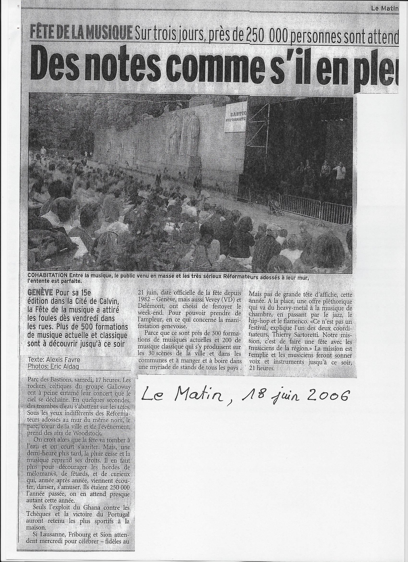 Le Matin, 18.06