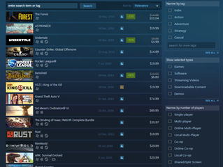 The Forest was Steam Top Seller