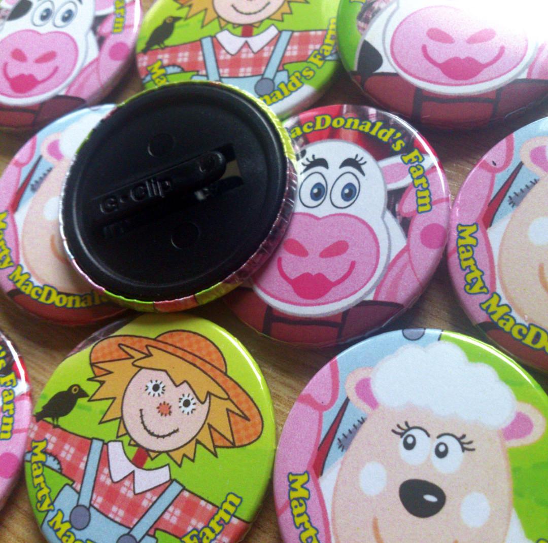 38mm Clip Badges