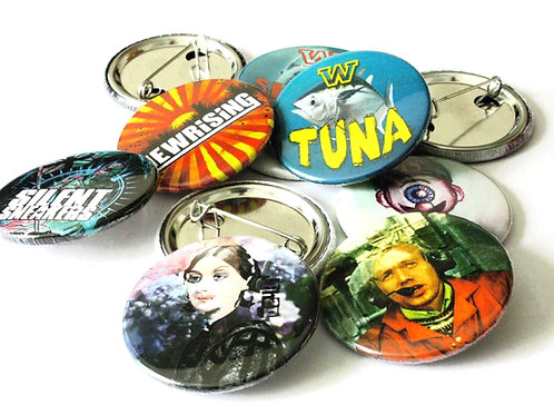 20 38mm Badges