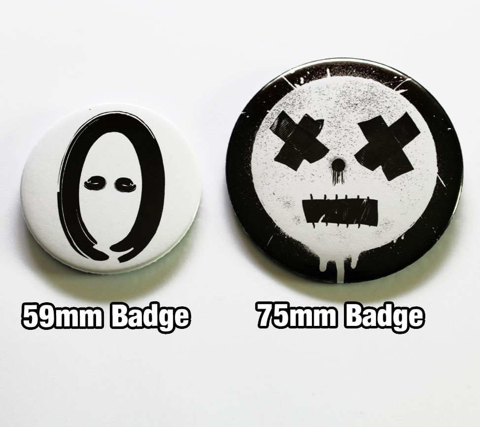 Custom 75mm Badges