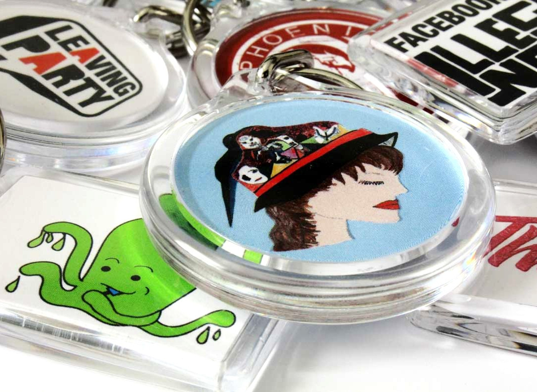 Double Sided Keyrings