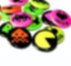 Printed Neon Pin Badges