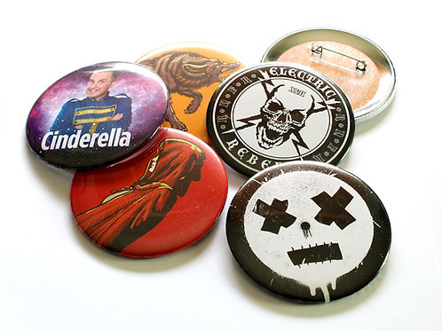 150 75mm Badges