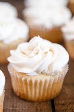 Vanilla Cupcakes w/Vanilla Buttercream Frosting