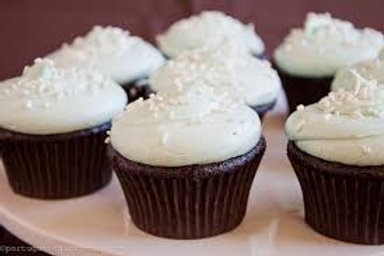 Chocolate Cupcakes w/Vanilla Butter Cream Frosting