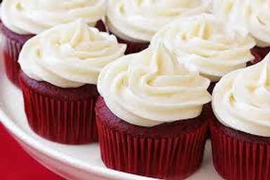 Red Velvet Cupcakes w/Cream Cheese Frosting