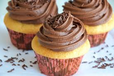 Vanilla Cupcakes w/Chocolate Buttercream Frosting
