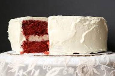 Red Velvet Cake w/Cream Cheese Frosting