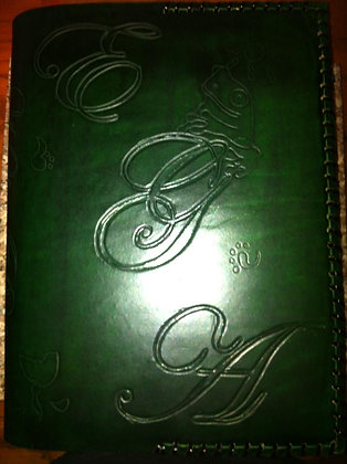 Emerald Wedding Bible Cover`