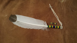 Army Ribbon bead feather