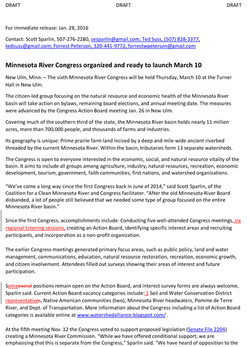 01282016News - Minnesota River Congress organized and ready to launch-1
