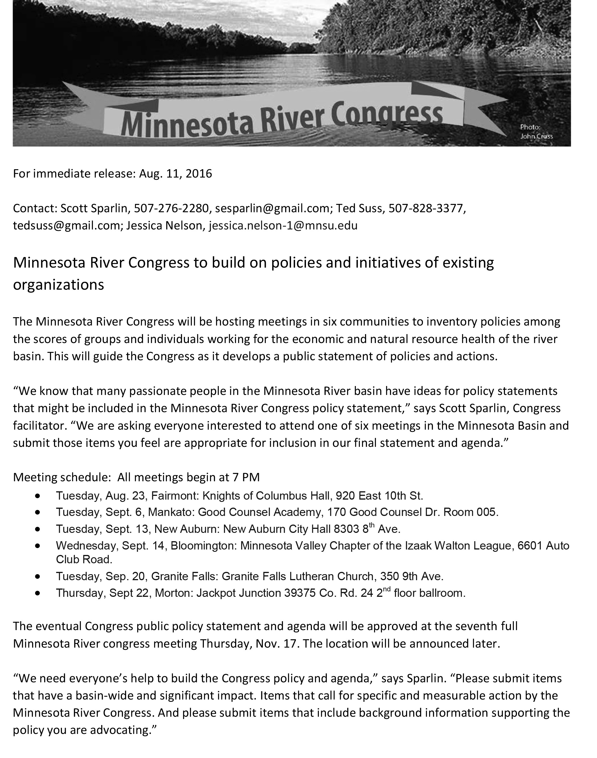 08112016News-MN River Congress seeks policy input-1