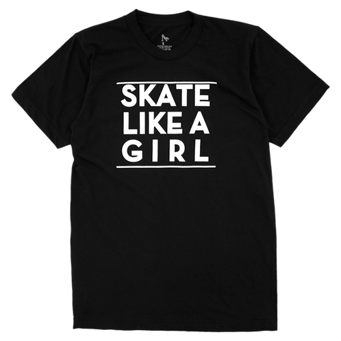 SKATE LIKE A GIRL TEE - BLACK