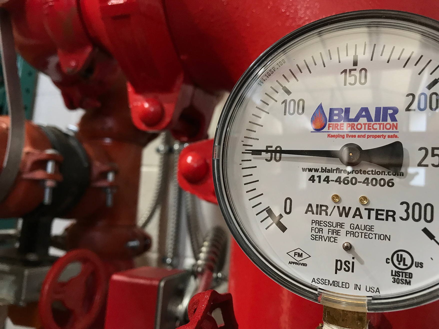 Blair Fire Protection Gauge