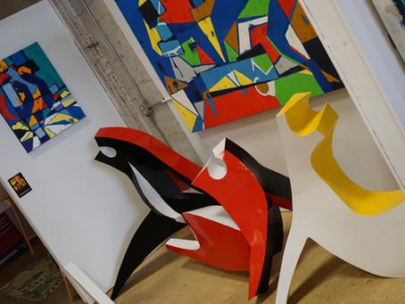 """""""Dancers"""" series of paintings&sculptures"""
