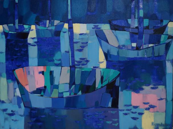 Blue Boats #1