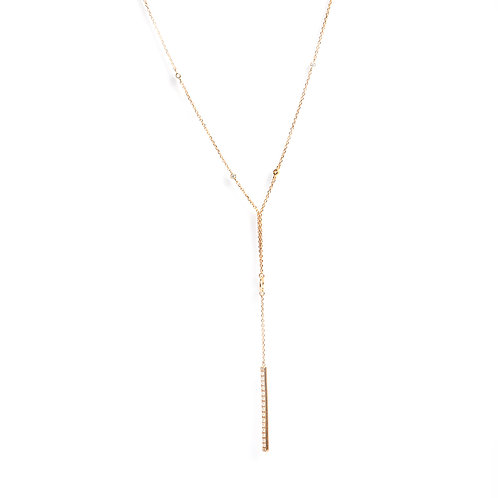Keshi Pearls and American Diamonds long chain necklace