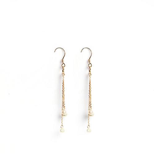 Classic Keshi Pearl 3 drops earrings