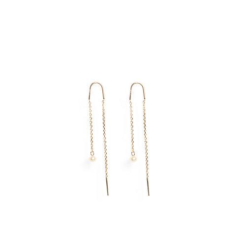 Minimal wire-drop Keshi Pearl earrings