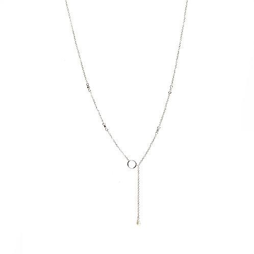 Keshi pearl American Diamond chain necklace