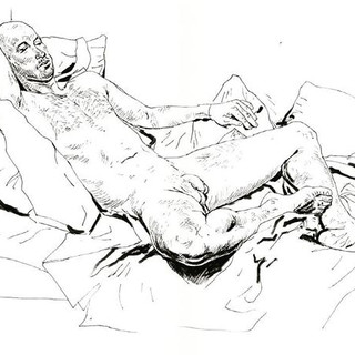 From today's drawing with model Kenny. 3