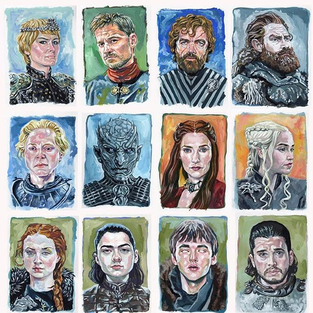 Game of Thrones portrait set._#gameofthr