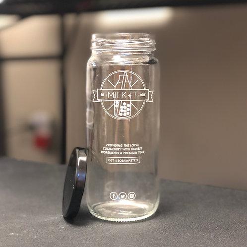 MILK+T Glass Jar