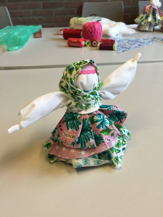 Изготовление народной куклы с настоящей мастерицей