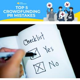 Top 5 Crowdfunding PR Mistakes