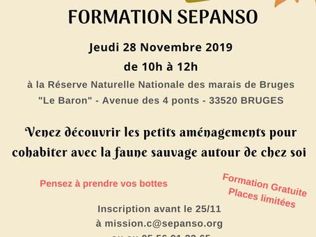 Formation Gratuite : Aménagements pour la faune - Jeudi 28 novembre 2019