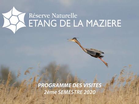 Visites de la Réserve Naturelle de l'étang de la Mazière : Programme 2ème semestre