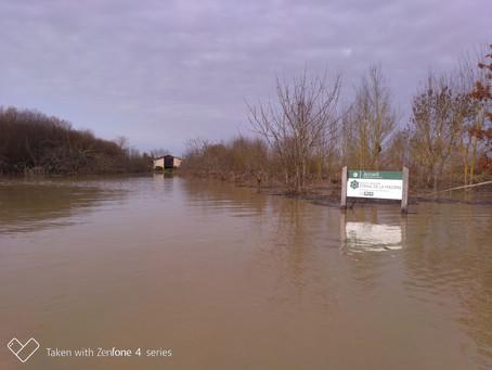 Inondations de décembre 2019, la Mazière les pieds dans l'eau.