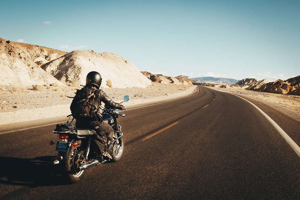 Sarah Riding in Death Valley