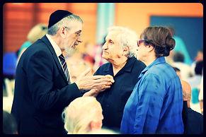 Rabbi Michael Melchior and arab leaders