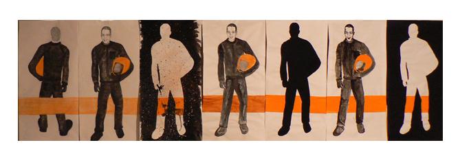Étude pour MON GARS DE BICYCLE, 2007