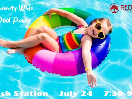 Free Pool Party @ Splash Station //  July 24