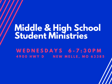 Middle & High School Students - Wednesday Nights