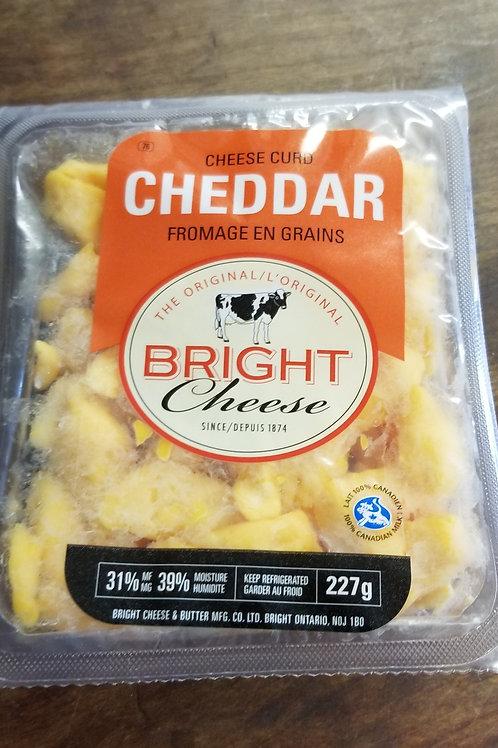 Bright Cheddar Cheese Curds (227g)