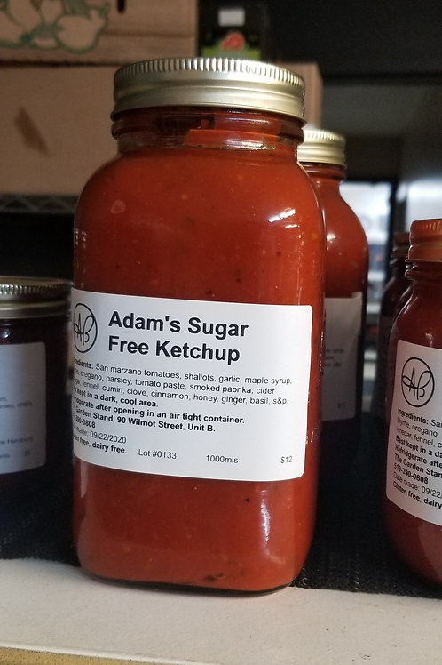 Adam's Sugar Free Ketchup (1L)