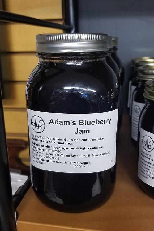 Adam's Blueberry Jam (1L)