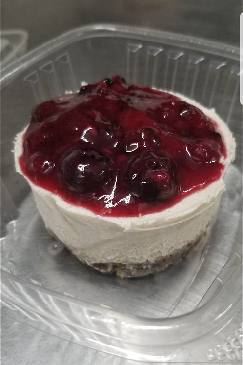 Vegan Cheesecake with Berry Sauce, frozen only